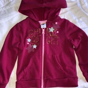 Other - Shine bright zip up sweater with hoodie